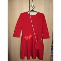 Дизайнерское платье для девочки, рост 134-140
