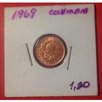 Колумбия, 1 сентаво 1969г.