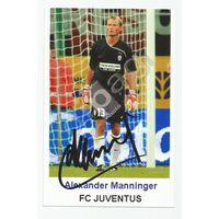 Alexander Manninger(Juventus, Италия). Живой автограф на фотографии.