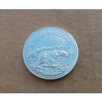 Канада, доллар 1980 г., серебро