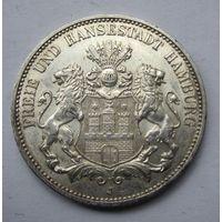 Германия, Гамбург, 3 марки, 1913, серебро