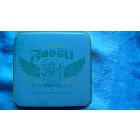 "Баночка жестяная. ""FOSSIL"" 1954. U.S.A. распродажа"