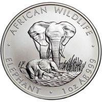 """Куплю монеты Замбии (1999 - 2003) серебро (1 oz) """"Слоны"""" (UNC)"""