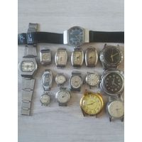 Лот наручных часов механических из СССР