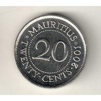 Маврикий 20 цент 2001