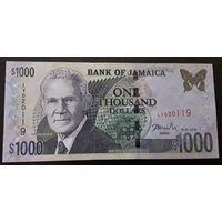 Ямайка. 1000 долларов 2008 г. - состояние!