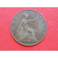 Великобритания 1 пенни 1906г. Эдуадр VII.