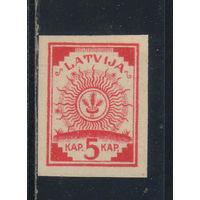 Латвия Респ 1918 Символ богини Лаймы Стандарт Печать на черно-коричневых топографических картах германского штаба Карта перевернута #1I*