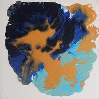 """Картина """"Мустанги в голубой воде"""""""