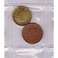 5 евроцентов 1999 и 10 евроцентов 2001 Бельгия. Возможен обмен