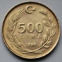 Турция, 500 лир 1990 г.
