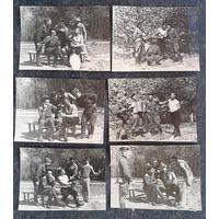 """Советские военные из группы окупационных войск в Германии отдыхают во время """"Воздушного моста"""". 6 фото. Магдебург. 1948 г. 6.5х9 см."""