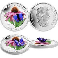 Монета 3Д  $20 canada бабочка