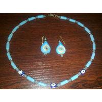 Комплект серьги+ожерелье