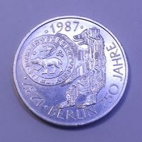 "ФРГ, 10 марок 1987 год,  ""750 лет городу Берлин (Серебро 0.625, 15.5г)"""
