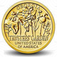 """1 доллар 2019  США Попечительские сады,Джорджия, серия """"Американские инновации"""" двор Р UNC!"""
