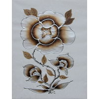 Картина маслом 127 контурные цветы 35х45