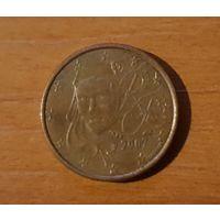 1 евроцент 2007 Франция