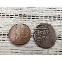 С 1 рубля без МЦ Монета 1 Танга Бухара 19век