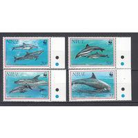 Фауна. Дельфины. Ниуе. 1993. 4 марки. Michel N 822-825 (14,0 е)