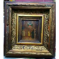 Покрова Святой Богородицы. Икона 15х13. Киот 31х29х6.