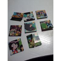 Фишки покемон pokemon металл, голографик + постеры, наклейки - коллекция из 90х