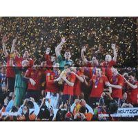 Постер сборная Испании - чемпион мира 2010 / Уэсли Снейдер (Wesley  Sneijder) (формат А2)