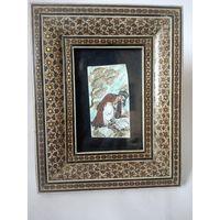 Старинная живопись на кости  Персия