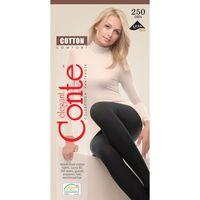 Колготки теплые Conte Cotton 250 Den, р-р 5, nero, 2 шт.
