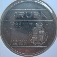 Аруба 1 флорин 1988 г. В холдере (gk)