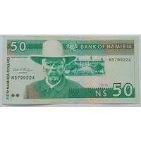 Намибия 50 Долларов 1993 Первый выпуск, A-UNC, 703