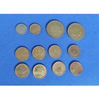 Греция, набор 12 монет: 50 филсов, 1 и 100 дирхам, 1957 - 1992, из оборота