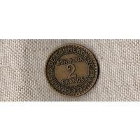 Франция 2 франка 1923//(Oct)