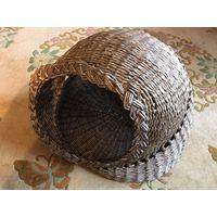 Лежанка домик для кота небольшой собачки щенка из бумажной лозы