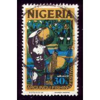 1 марка 1973 год Нигерия Рыбак 285