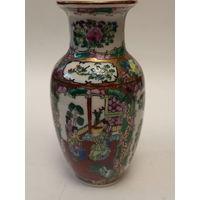 Старинная ваза фарфор  ручная роспись Китай