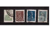 СССР-1925, (Заг.77,82,85,87) 4 м гаш., с ВЗ ,  Золотой Стандарт