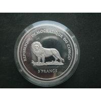 Конго ДР 5 франков 2002 г.