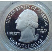 14. США 1/4 доллара, Национальный исторический парк Чако в Нью-Мексико. серебро пруф.