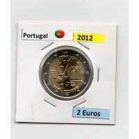 2 евро Португалия  2012г. Гимарайнш — Культурная столица Европы.