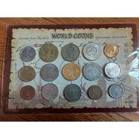 МИР ++ 15 монет со всего Мира в Наборе ++