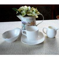 Набор посуды для чая , кофе . Чашка , блюдце , сливочник ,розетка  Wilmax England