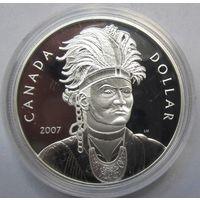Канада, доллар, 2007, серебро, пруф