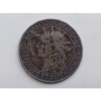 Гваделупа 1 франк 1921г