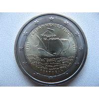 Португалия 2 евро 2011г. 500 лет со дня рождения Фернана Мендеса Пинто. (юбилейная) UNC!