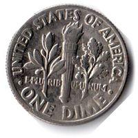 США. 1 дайм (10 центов). 1985 P
