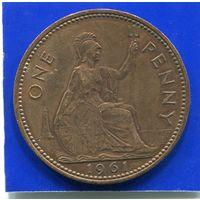 Великобритания 1 пенни 1961