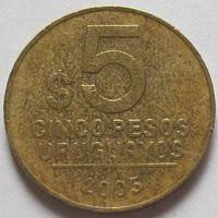 Уругвай, 5 песо 2005 г