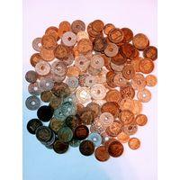 154 монеты старой Франции до 1945 года.