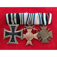 Старт с 1 рубля! Колодка на 3 награды ветерана ПМВ, Германия